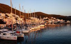 #Hafen von #Kythnos bei #Merichas © Jürgen Garneyr Mykonos, San Francisco Skyline, Travel, Pictures, Santorini, Greek, Greece, Adventure, Vacation