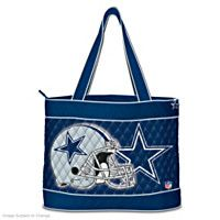 113344001 - Dallas Cowboys Tote Bag With Free Cosmetic Case