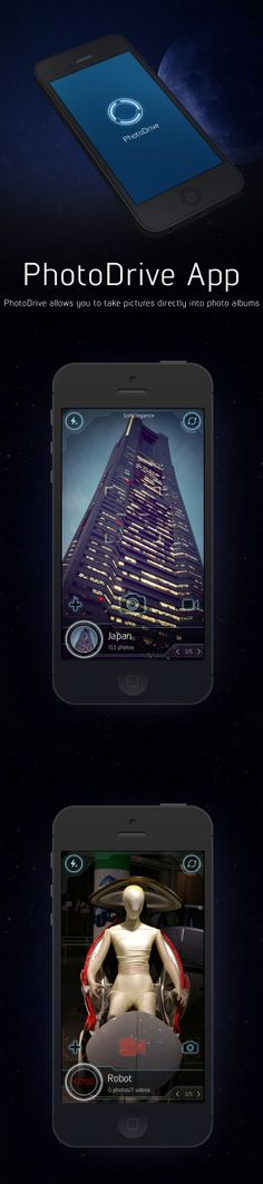 PhotoDrive app by Cuberto