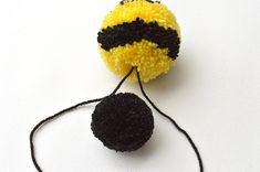 pom pom bee craft for kids