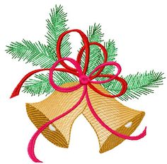 Christmas bell free embroidery design 2 - Christmas free embroidery - Machine embroidery community