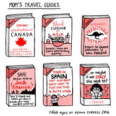 """Mom's Travel Guides"" by Gemma Correll"