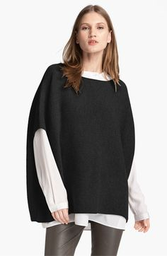Vince Rib Knit Wool & Cashmere Poncho | Nordstrom