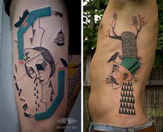 Dupla de artistas usa técnicas do graffiti pra criar tatuagens incríveis