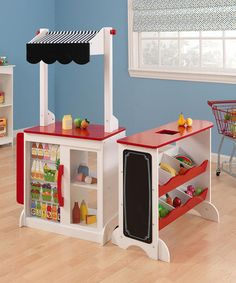 Grocery Store Play Set @Rhonda Meyer.  Would this be easy to construct for school?  I thought it was cute!