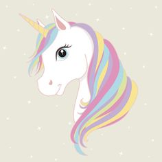 White unicorn vector head with mane and horn. Unicorn on starry background. poster ) ) White unicorn vector head with mane and horn. Unicorn on starry background. Unicorn Painting, Unicorn Drawing, Unicorn Art, Magical Unicorn, Rainbow Unicorn, Unicorn Head Cake, Beautiful Unicorn, Baby Unicorn, Unicorn Images