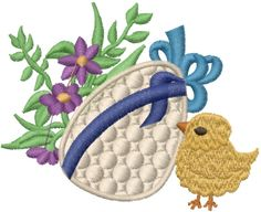 Free Easter Egg Embroidery Design | AnnTheGran