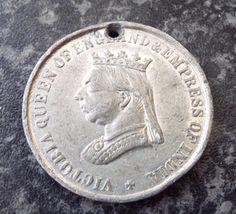 Antique 1887 Queen Victoria Golden Jubilee Medal Queen Victoria, Badges, Antiques, Antiquities, Antique, Badge, Old Stuff