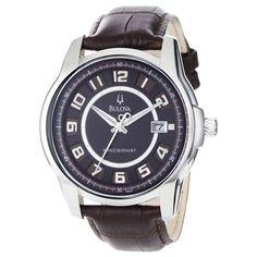 Bulova 96B128 Men's Precisionist Super Accurate Brown Leather Strap Watch