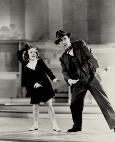 Shirley Temple and Jimmy Durante in a deleted scene from Little Miss Broadway, 1938.