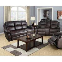 Amado 2 Piece Leather Reclining Living Room Set
