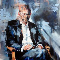 Floris van Zyl Artist - That Chair, 61cm x 61cm, Oil on Board, F van Zyl 2015