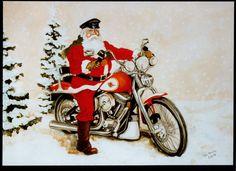 Santa on motorcycle image | Harley-Davidson Motorcycle Clip Art