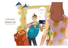 #fintech #life #image #illust #mobile #npine #iclickart