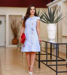 Modest Outfits, Modest Fashion, Casual Dresses, Short Dresses, Fashion Dresses, Cute Outfits, Summer Dresses, Gaun Dress, Barrettes