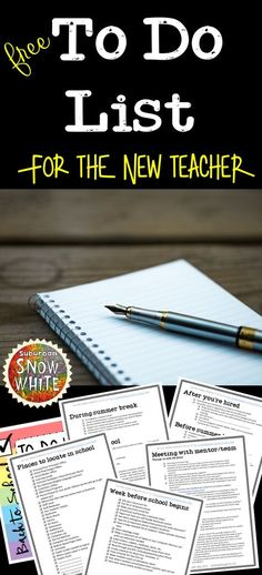 A free downloadable guide and to do list for the back to school teacher. Essential to the new teacher!