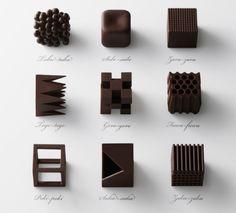 食感で味の変化を楽しむチョコレート デザイン会社 nendo を運営するチーフデザイナー・佐藤 オオキさんが発表した「chocolatexture」はちょっと違う。同じ原材料でも「形」を変えることで、味に変化をもたらすチョコレートを作り上げたのだ http://entabe.jp/news/gourmet/7300/chocolatexture-designed-by-japanese-designer