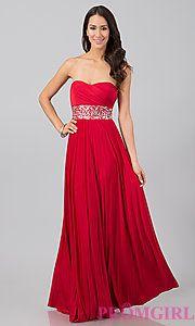 Buy Floor Length Strapless Dress at PromGirl