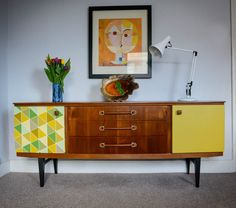 RETRO VINTAGE TEAK MID CENTURY DANISH STYLE CHEST SIDEBOARD ERA 60s 70's