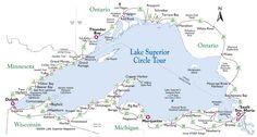 Lake Superior | Lake Superior Circle Tour Map.