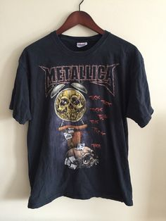 A personal favorite from my Etsy shop https://www.etsy.com/ca/listing/263970450/metallica-death-is-pain-t-shirt-heavy
