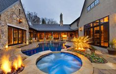 house plans courtyard pool   Construcción de Albercas en Monterrey   Especialistas en ...