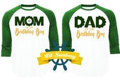Dad Mom of the Birthday Boy, Green Raglan Shirt, Tractor Birthday, Country Boy Shirt, Birthday Jersey, Tractor Party, Farm Birthday Party