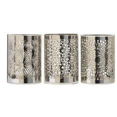 Värmeljushållare Linnea 8,5x11,5 cm Silver Glas  - Ljusstakar - Rusta