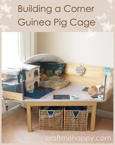 Building a corner DIY C and C style guinea pig cage with a Perspex front by Craft me Happy! Here's the guinea pig cage I built when I couldn't find one that would look good in my living room.