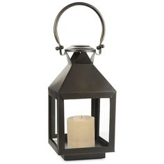 Cambridge Classic Lantern- 40in ($310) ❤ liked on Polyvore featuring home, home decor, candles & candleholders and polished nickel