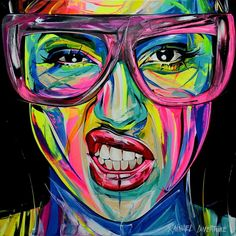 "New painting ""Leadership"" x Full dose of motivation to start your week 💪🏼💪🏼💪🏼 ! Pop Art Portraits, Portrait Art, Arte Pop, Art And Illustration, Arte Inspo, Tableau Pop Art, Abstract Face Art, Art For Art Sake, Painting Inspiration"
