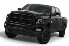 The 2014 Ram Heavy Duty pickup truck with a new Black package starts at $43,335.