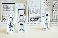 Story-telling Activities for Kids on story-telling day_paper dolls in paper city_imagine forest Activities For Kids, Crafts For Kids, Children Crafts, Counseling Activities, Communities Unit, Paper Art, Paper Crafts, Ell Students, Up Book