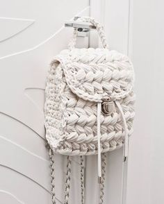 Items similar to Dusty pink vegan backpack Women rucksack T-shirt yarn backpack purse City rucksack Small backpack on Etsy Cream Backpacks, Tshirt Garn, Crochet Handles, Crochet Backpack, Yarn Bag, Macrame Bag, Crochet Purses, Crochet Bags, Crochet Animals