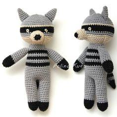 Polina Kuts: МК Енот вязанный крючком. Crochet raccoon