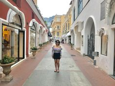 High street shopping..Capri town, Italy