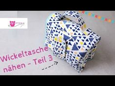 Kombinierte Wickeltasche / Windeltasche mit Unterlage selber nähen #Teil 3 – DIY Eule - YouTube Baby Sewing Projects, Sewing For Kids, Sewing Tutorials, Sewing Patterns, Diy Bebe, Baby Costumes, Couture, Baby Love, Baby Gifts