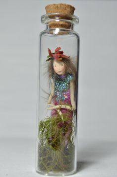 Captured Fairy Woodland Spirit Nigrica by littlefolkoffaery