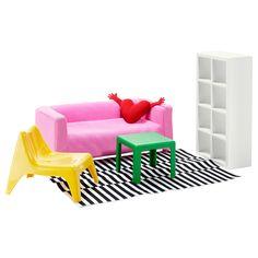 Oh my word... IKEA dollhouse furniture! LOVE IT! HUSET Doll furniture, living room - IKEA