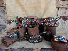 Custom spurs and cuff bracelets