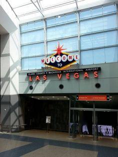 McCarran International Airport welcomes you to Las Vegas Nevada.