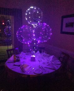 6 Purple LED Balloons, 18 Inch Clear Balloons With 118 Inch Purple LED Lights, Sweet 16 Balloons, Quinceanera Balloons Sweet 16 Decorations, Quince Decorations, Balloon Decorations, Birthday Party Decorations, Birthday Parties, Sweet Sixteen Centerpieces, Purple Wedding Decorations, Balloon Ideas, Birthday Box