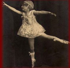 """This is the real """"Baby June"""" (from the musical Gypsy) aka June Hovick, who could dance on pointe at age 2, and performed as part of the bill on Anna Pavlova's farewell tour, where she got the name """"Baby June, the Pocket-Sized Pavlova"""""""