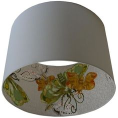 Lampshade with design on the inside..
