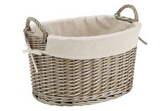 Provence large round basket from Target   And a touch of French Provincial to your laundry with this wicker weave...