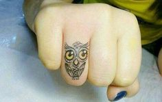 Small owl tattoo :)