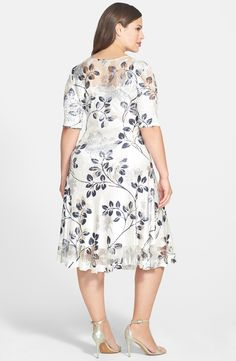 Free shipping and returns on Komarov Pleated Dress (Plus Size) at Nordstrom.com. A sheer yoke and shoulders style an easy-to-wear dress, specially treated for a cool, pleated effect. Flirty front keyhole is topped with a pearlescent button.