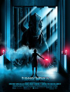 The story is based on a dinosaur which is created at Jurassic World, which is a theme park, located on an island, called Isla Nublar, which was the site of the original Jurassic Park. The Jurassic World contain so many species of Dinosaurs' clones. Jurassic World Poster, Jurassic Park Series, Jurassic World Fallen Kingdom, Jurassic Park World, Michael Crichton, Best Movie Posters, Cinema Posters, Free Poster Printables, Movie Synopsis