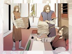 If it had been... by ~M-azuma on deviantART (Legolas, Boromir, Faramir and Aragorn)
