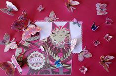Say Thanks With Butterflies - artwork by Rita Dabrowicz Butterfly Artwork, How To Make Paper, Butterflies, Collage, Cat, Shop, Handmade, Butterfly, Cat Breeds
